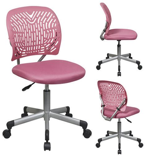 plastic office chairs with wheels pink designer desk task office swivel chair fabric seat