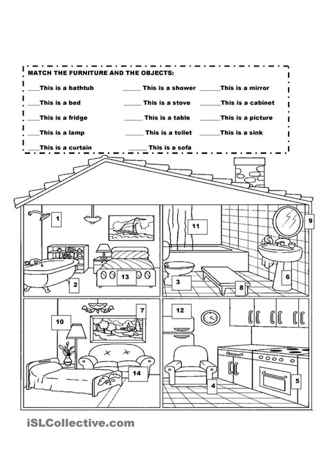 my house printable activities furniture in the house kindergarten pinterest house