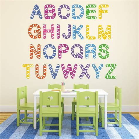 striped wall stickers stripe alphabet wall stickers by mirrorin