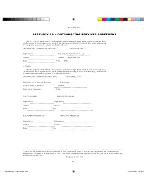 outsourcing contract template outsourcing services agreement free