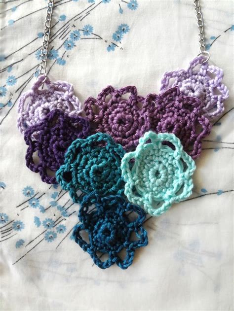 flower pattern jewellery 566 best crochet necklaces chokers images on pinterest