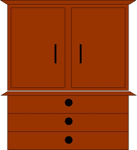 Double Drawer Dresser by Dresser Free Images At Clker Com Vector Clip Art