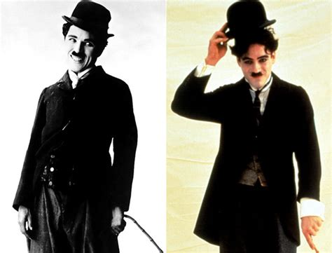 charlie chaplin biography movie robert downey jr celebrities who take on famous faces