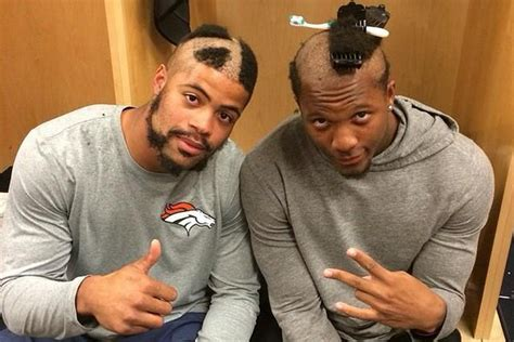denver broncos haircuts photos broncos rookies receive their special haircuts