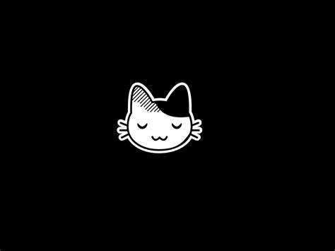 cartoon wallpaper black and white kawaii cats cartoon wallpaper 1600x1200 46216