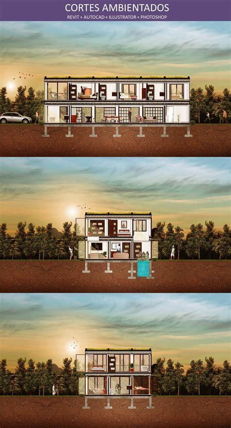 corte en revit cortes ambientados planos arquitect 243 nicos revit