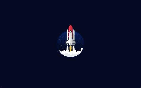 wallpaper space shuttle dark background hd minimal