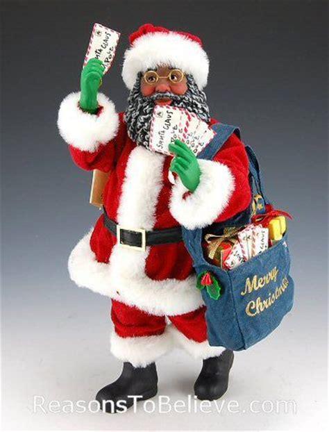 african american mrs claus figurine black mailman santa