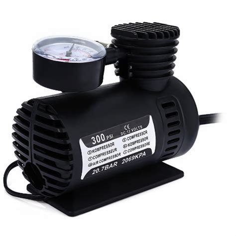 Pompa Air Mini 12 Volt 12v 300psi car portable mini air compressor electric tire