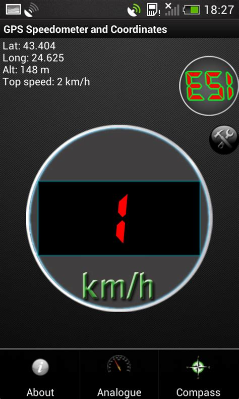 speedometer app android gps speedometer in kmh and mph free app android freeware