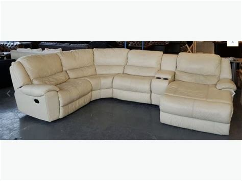 Rrp 163 3000 Dfs Huge Leather Corner Sofa Lounger Recliner