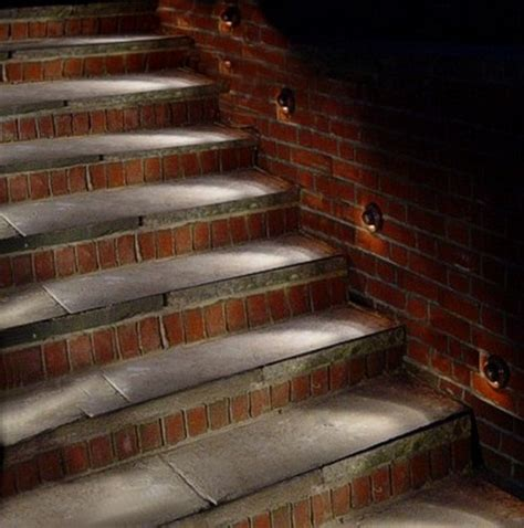 attractive outdoor steps lighting designs