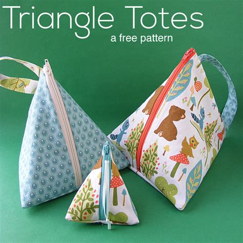 triangle pattern bag triangle tote bags a free pattern shiny happy world