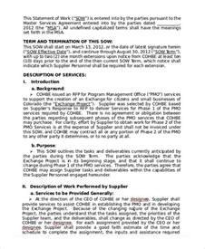 free statement of work template statement of work template 11 free pdf word excel