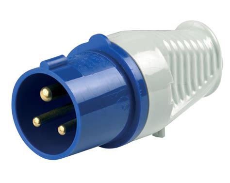 A0043   240v 16 Amp Mains Voltage Plastic Plug