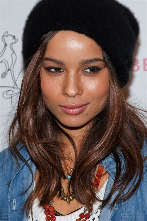zoe kravitz straight hair zo 235 kravitz straight medium brown hairstyle steal her style