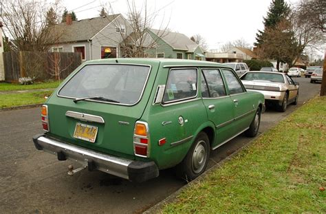 toyota wagon old parked cars 1977 toyota corona luxury edition