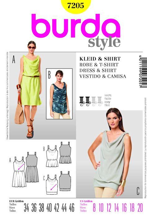 pattern review uk burda 7205 dress and shirt