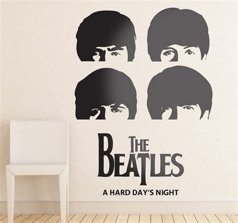 beatles wall stickers beatles day s wall sticker