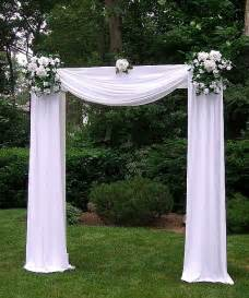Tulle decorated wedding arches any of dream days rental items can be