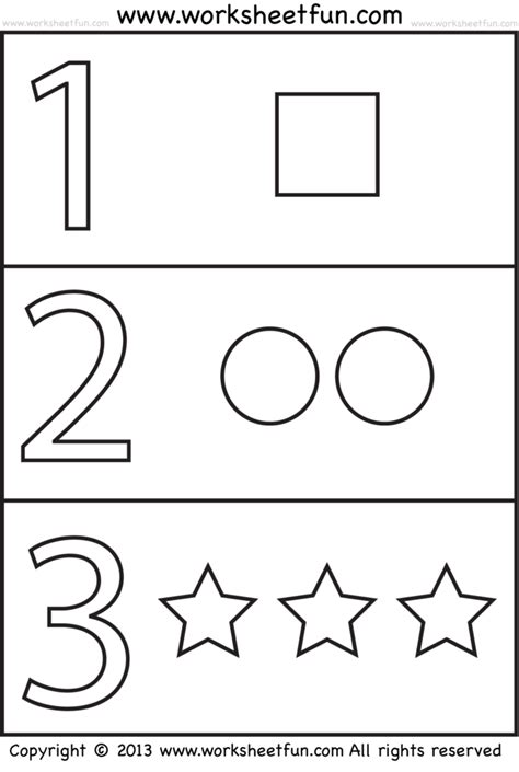 Coloring Pages Numbers And Shapes | count the shapes circle correct answer coloring page