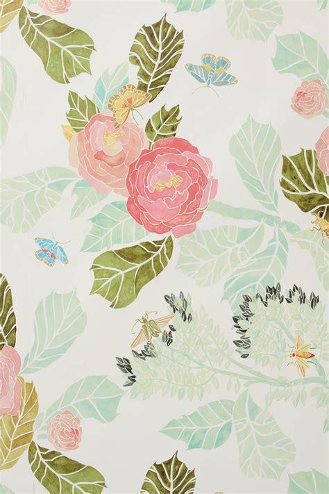 Pink Peonies Nursery by Watercolor Peony Wallpaper Wallpapersafari