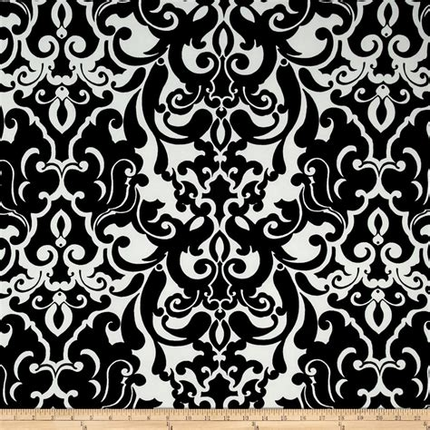 black damask upholstery fabric activewear knit damask black white discount designer