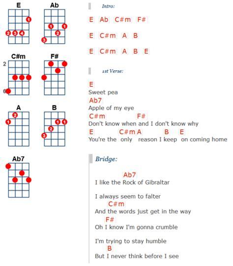 Sweet Pea Guitar Chords