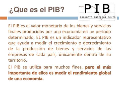 como se mide el pib producto interno bruto pib