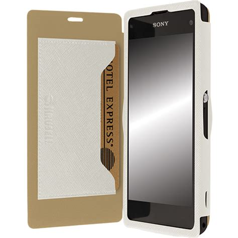 Krusell Flip Cover Malmo Xperia C digitalsonline krusell flip cover malm 246 bookcase sony xperia z1 compact wit