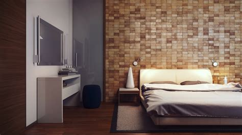 bedroom feature wall wood block feature wall interior design ideas