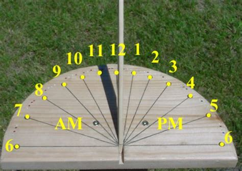 How To Make A Sundial With A Paper Plate - build a sundial design a sundial