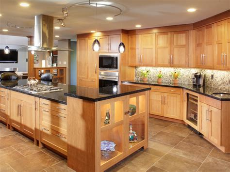 Modern kitchen wall tiles design, kitchens with light oak