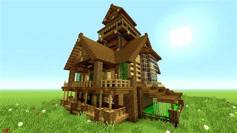minecraft survival house tutorial minecraft tutorial epic survival house tutorial how to make a big house rustic
