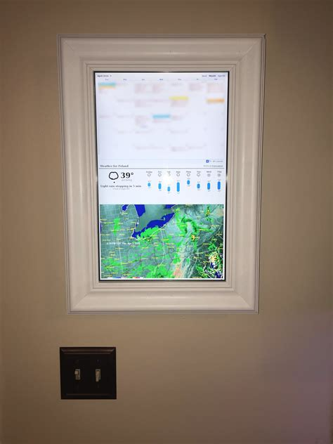 diy home automation ideen raspberry pi framed informational display