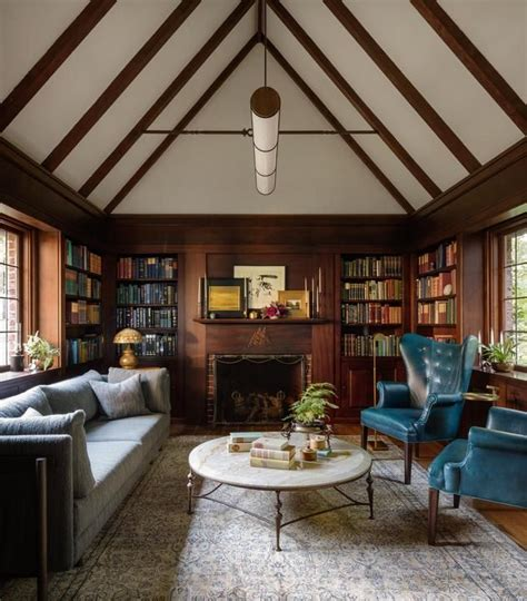a tudor home library that s stately not stuffy the