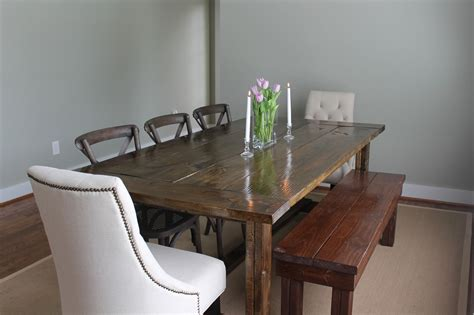 how to make a bench for dining table country style large farmhouse dining table with flower