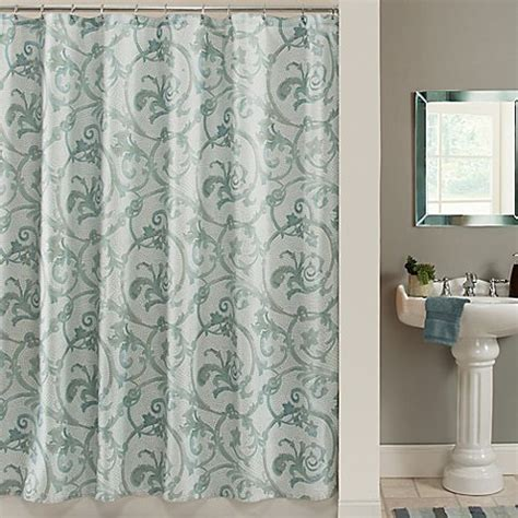 85 inch shower curtain savona 72 inch x 72 inch shower curtain in blue bed bath