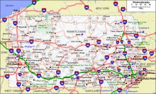 Pennsylvania On Us Map by Pennsylvania Map