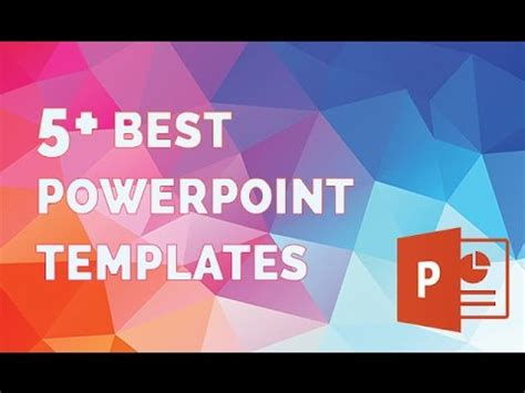Best Powerpoint Templates The 5 Best Presentation Template Youtube Best Powerpoint Presentations Templates Free
