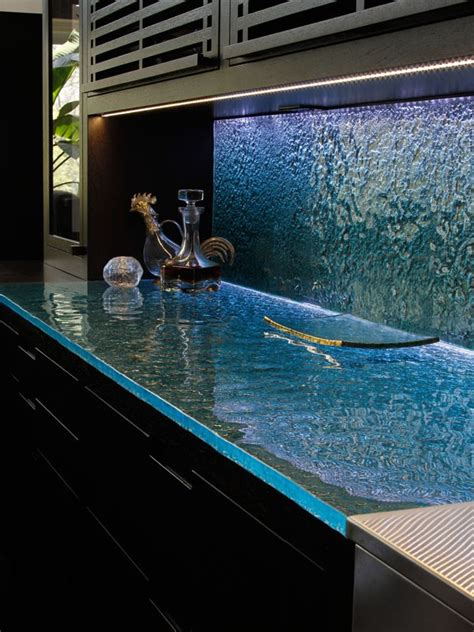 led back splash glass countertops glass backsplashes were made for each