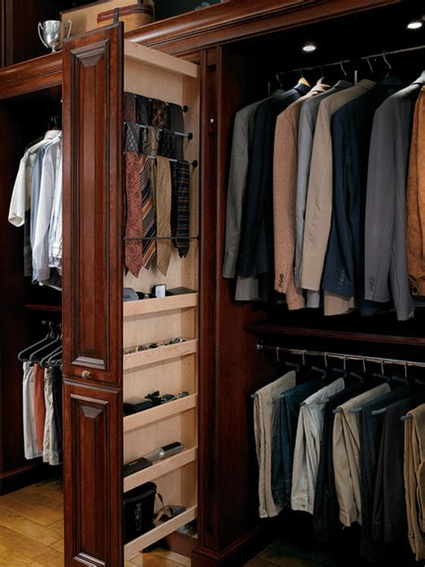 Pull Out Closet Storage by Hunt Club Valet Traditional Closet Houston By Cabinet Innovations