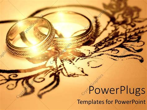 Powerpoint Template Two Gold Rings Wedding His And Hers Together 25258 Powerpoint Wedding Templates