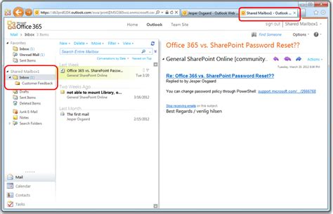Office 365 Shared Mailbox Userfriendly Shared Mailboxes In Office 365 Microsoft