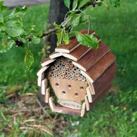 Gardeners Supply Bee House Wooden Garden Bee Insect Bird Squirrel Hotel House Home