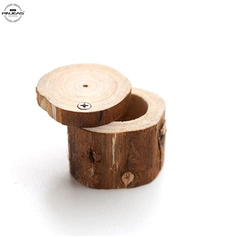 rustic wood ring box 2pcs custom your name and date