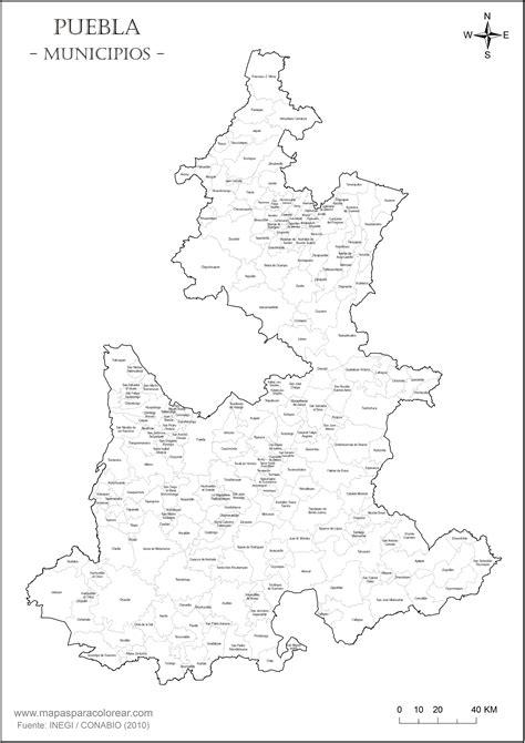 mapa de puebla mexico mapa de puerto rico con los pueblos para colorear