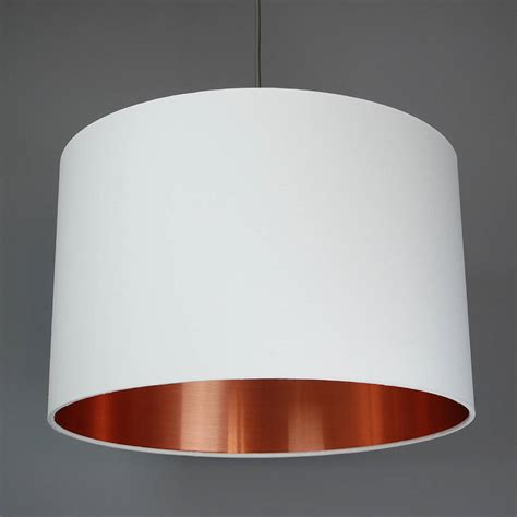 19 Mini Blinds Brushed Copper Lined Lamp Shade Choice Of Colours By Quirk