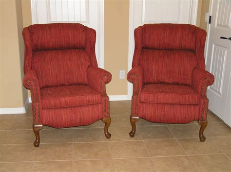 reupholster a recliner reclining wing back chairs heathgate high leg recliner