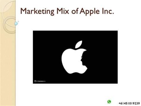 marketing mix apple inc 1 authorstream